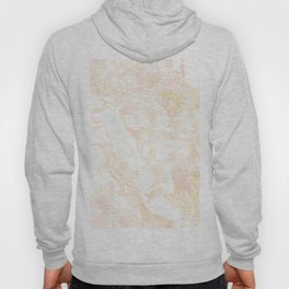 White Marble Pastel Pink and Gold by Nature Magick Hoody