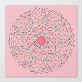Flower Rounds Mandala Canvas Print