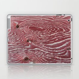 Red Painted Plywood Laptop & iPad Skin