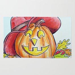 Country Pumpkin Rug