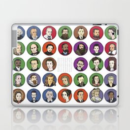 Portraits of Important Scientists Laptop & iPad Skin