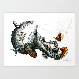 Revenge of the Sea Art Print
