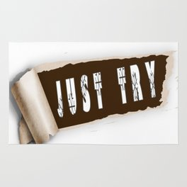Just Try T-shirt Rug