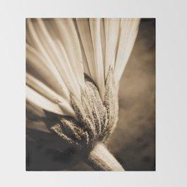 Sepia Gerbera Throw Blanket