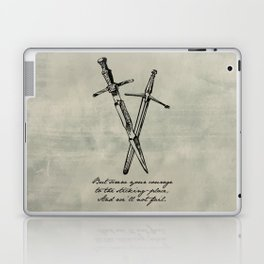 Shakespeare - Macbeth - Courage to the Sticking Place Laptop & iPad Skin