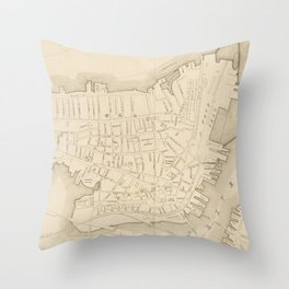 Vintage Map of Charlestown MA (1906) Throw Pillow