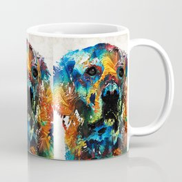 Colorful Dog Art - Heart And Soul - By Sharon Cummings Coffee Mug