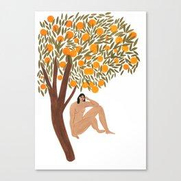 Sous l'Oranger Canvas Print