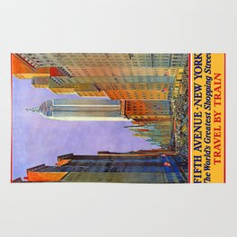 New York, vintage poster Rug