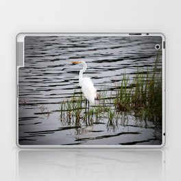 Egret Patiently Waiting Laptop & iPad Skin