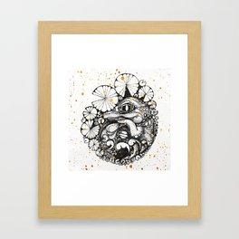 Baby Crocodile Inktober :: I Am The Unborn Framed Art Print