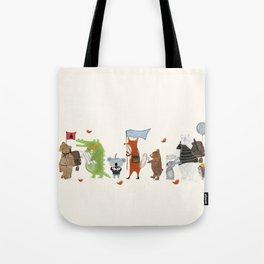 lets all go exploring Tote Bag