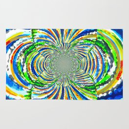 Kaleidoscope Graffiti Stripes  Rug