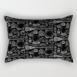 Witchcraft I [B&W] Rectangular Pillow