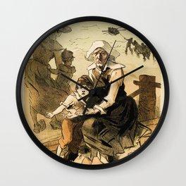 1890 Drowned fishermen charity ball by Chéret Wall Clock