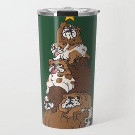 Christmas Tree English Bulldog Travel Mug