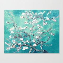 Vincent Van Gogh Almond Blossoms Turquoise Canvas Print