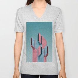 Acid pink Unisex V-Neck