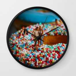 A Day at the Donut Beach. 2 Wall Clock