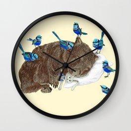 Wrens Wombat sleep Wall Clock