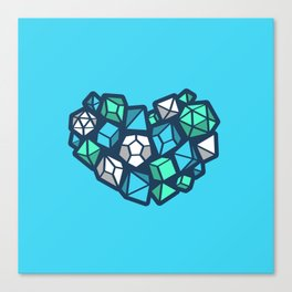 Heart of a Dungeon Master Canvas Print