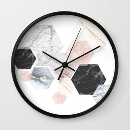 Lost in Marble Wall Clock
