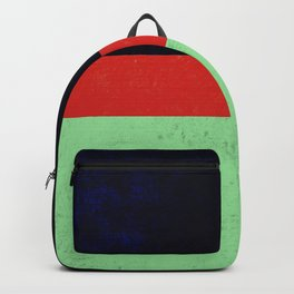 Navy, red and mint design Backpack
