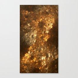 Fractal Art - Gold mine Canvas Print