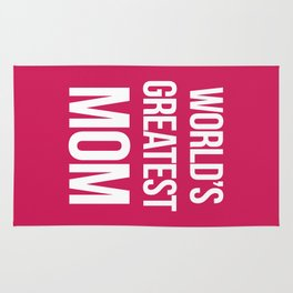 World's Greatest Mom Quote Rug