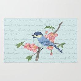 Blue Chickadee Rug