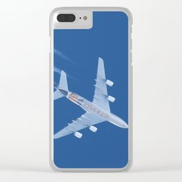 Airbus A380 Etihad Airways, 12200m Clear iPhone Case