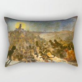 "Théophile Steinlen ""The Apotheosis of the Cats"" Rectangular Pillow"