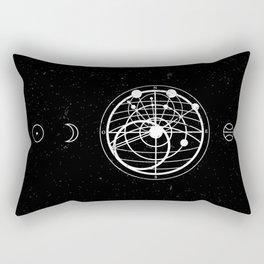 Astrology Compass Black Rectangular Pillow