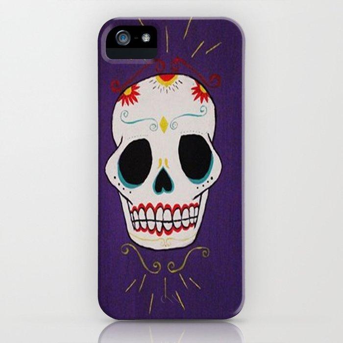 Azure Sugar Skull iPhone Case