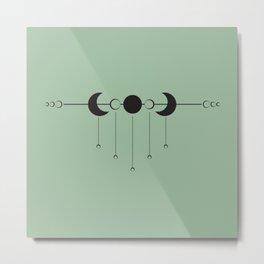 Moon Droplets Metal Print