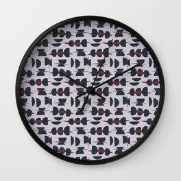 Abstract Semi Circle Wall Clock