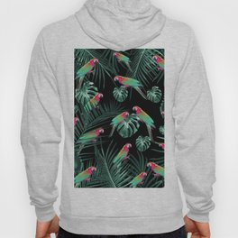 Parrots in the Tropical Jungle Night #1 #tropical #decor #art #society6 Hoody