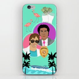 Miami Vice: Crockett and Tubbs iPhone Skin