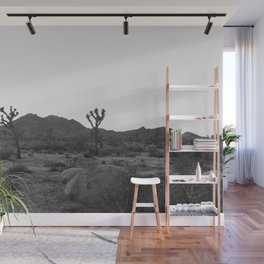 Joshua Tree in Black and White Wall Mural