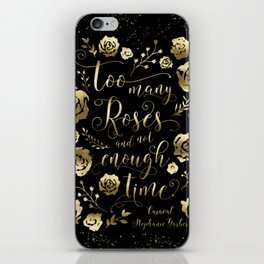 Too many roses and not enough time. Caraval iPhone Skin