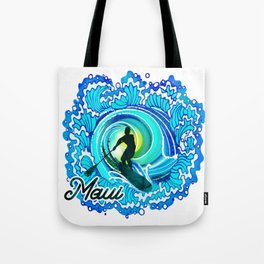 Sup paddle Boarder Beautiful Ocean Blue SPLASH Tote Bag