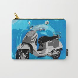 Vespa Blues Carry-All Pouch