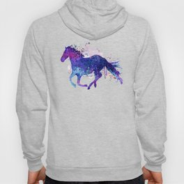 Running Horse Watercolor Silhouette Hoody