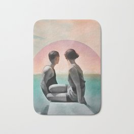 Collage Couple in Sunset Bath Mat