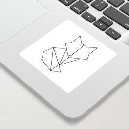 Geometric Fox - Black Sticker