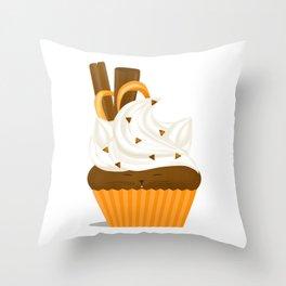 Caramel Cuppycat Throw Pillow