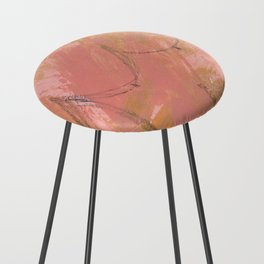 Nude Abstract Couple: His Counter Stool