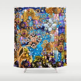 Gold, Glitter, Gems and Sparkles Shower Curtain