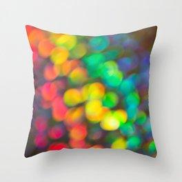 Rainbow Bokeh 1 Throw Pillow