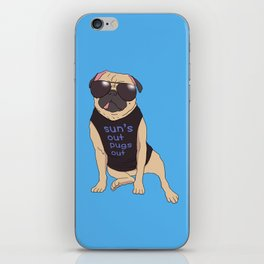 Sun's Out Pugs Out iPhone Skin